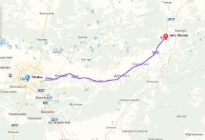 маршрут эвакуатора в тюмени: с. Ярково - Тюмень, буксир 24