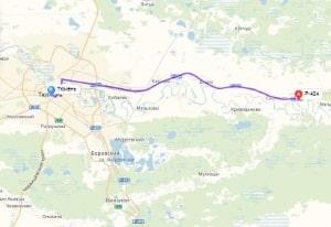 маршрут эвакуатора в тюмени: Р-404 - Тюмень, буксир 24