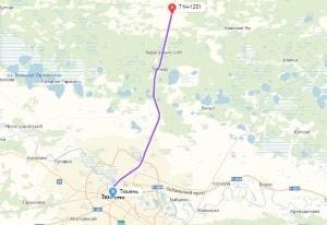 маршрут эвакуатора в тюмени: 71Н-1201 - Тюмень, буксир 24