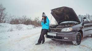 зимняя трасса, сломался автомобиль